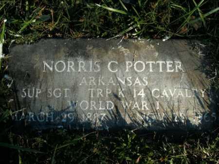 POTTER (VETERAN WWI), NORRIS C - Boone County, Arkansas | NORRIS C POTTER (VETERAN WWI) - Arkansas Gravestone Photos