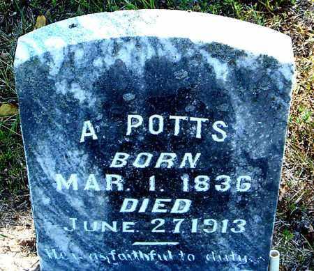 POTTS, A. - Boone County, Arkansas | A. POTTS - Arkansas Gravestone Photos