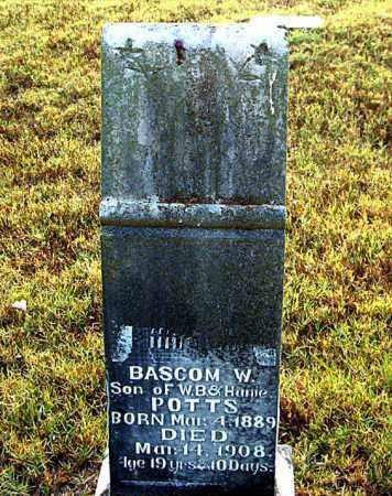 POTTS, BASCOM  W. - Boone County, Arkansas | BASCOM  W. POTTS - Arkansas Gravestone Photos