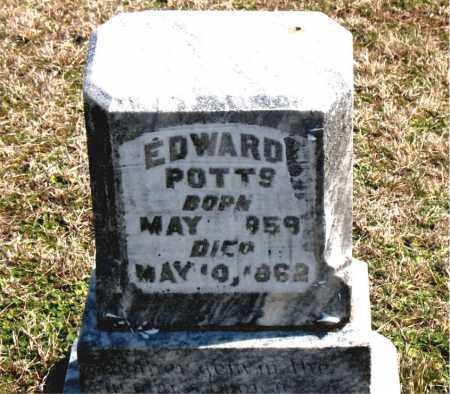 POTTS, EDWARD - Boone County, Arkansas   EDWARD POTTS - Arkansas Gravestone Photos