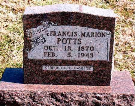 POTTS, FRANCIS MARION - Boone County, Arkansas   FRANCIS MARION POTTS - Arkansas Gravestone Photos