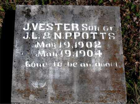 POTTS, J.  VESTER - Boone County, Arkansas | J.  VESTER POTTS - Arkansas Gravestone Photos
