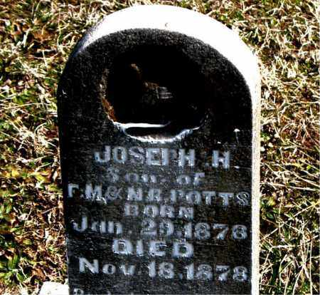 POTTS, JOSEPH H. - Boone County, Arkansas | JOSEPH H. POTTS - Arkansas Gravestone Photos
