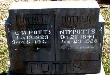 POTTS, L.  M. - Boone County, Arkansas   L.  M. POTTS - Arkansas Gravestone Photos