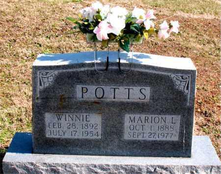 POTTS, WINNIE - Boone County, Arkansas | WINNIE POTTS - Arkansas Gravestone Photos
