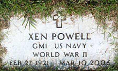 POWELL  (VETERAN WWII), XEN - Boone County, Arkansas | XEN POWELL  (VETERAN WWII) - Arkansas Gravestone Photos