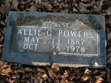 POWERS, ALLIE G. - Boone County, Arkansas | ALLIE G. POWERS - Arkansas Gravestone Photos