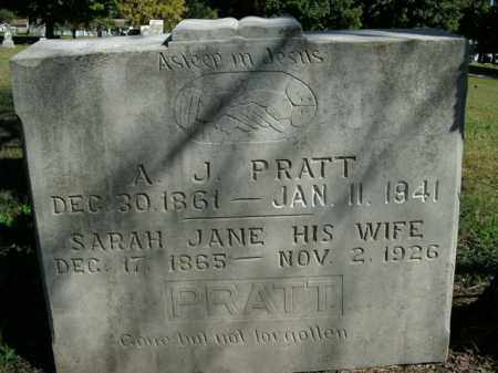 PRATT, A.J. - Boone County, Arkansas   A.J. PRATT - Arkansas Gravestone Photos