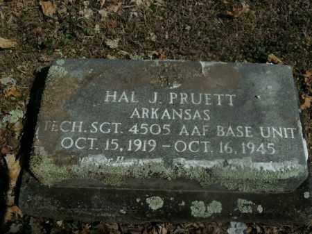 PRUETT  (VETERAN), HAL J - Boone County, Arkansas | HAL J PRUETT  (VETERAN) - Arkansas Gravestone Photos