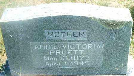 PRUETT, ANNIE VICTORIA - Boone County, Arkansas | ANNIE VICTORIA PRUETT - Arkansas Gravestone Photos