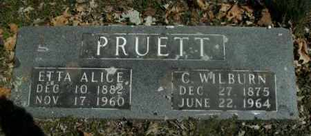 PRUETT, ETTA ALICE - Boone County, Arkansas | ETTA ALICE PRUETT - Arkansas Gravestone Photos