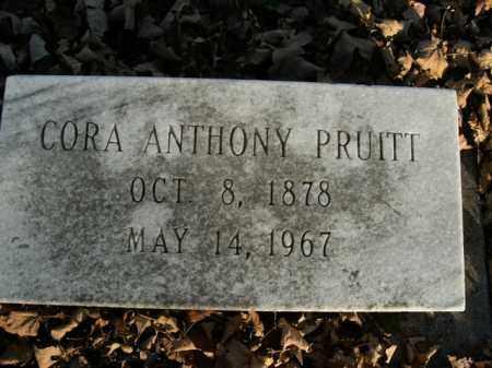 PRUITT, CORA ANTHONY - Boone County, Arkansas | CORA ANTHONY PRUITT - Arkansas Gravestone Photos