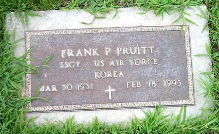 PRUITT  (VETERAN KOR), FRANK P. - Boone County, Arkansas | FRANK P. PRUITT  (VETERAN KOR) - Arkansas Gravestone Photos