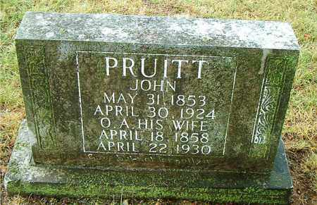 PRUITT, O.  A. - Boone County, Arkansas | O.  A. PRUITT - Arkansas Gravestone Photos