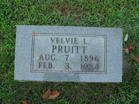 PRUITT, VELVIE L. - Boone County, Arkansas | VELVIE L. PRUITT - Arkansas Gravestone Photos