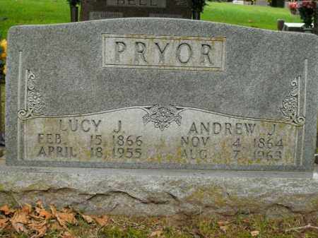 PRYOR, LUCY J. - Boone County, Arkansas   LUCY J. PRYOR - Arkansas Gravestone Photos