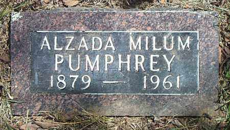 PUMPHREY, ALZADA - Boone County, Arkansas | ALZADA PUMPHREY - Arkansas Gravestone Photos