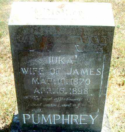 PUMPHREY, IUKA - Boone County, Arkansas | IUKA PUMPHREY - Arkansas Gravestone Photos