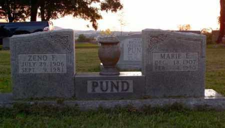 PUND, ZENO F. - Boone County, Arkansas | ZENO F. PUND - Arkansas Gravestone Photos
