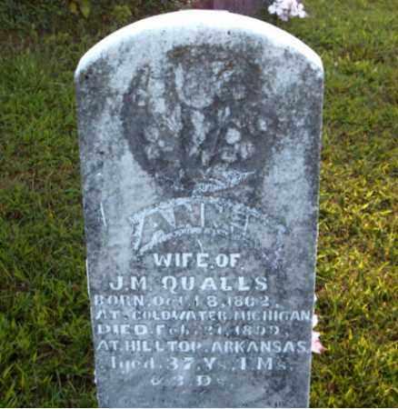 QUALLS, ANNIE  M. - Boone County, Arkansas   ANNIE  M. QUALLS - Arkansas Gravestone Photos
