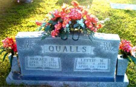 QUALLS, HORACE  M. - Boone County, Arkansas | HORACE  M. QUALLS - Arkansas Gravestone Photos