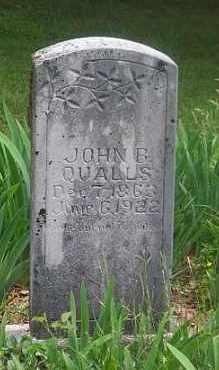 QUALLS, JOHN  B. - Boone County, Arkansas   JOHN  B. QUALLS - Arkansas Gravestone Photos