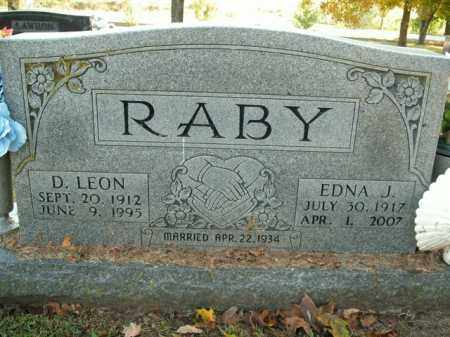 RABY, EDNA J. - Boone County, Arkansas   EDNA J. RABY - Arkansas Gravestone Photos
