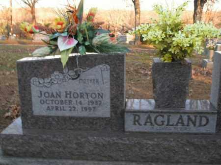 HORTON RAGLAND, JOAN - Boone County, Arkansas | JOAN HORTON RAGLAND - Arkansas Gravestone Photos