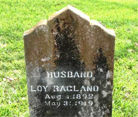 RAGLAND, LOY - Boone County, Arkansas | LOY RAGLAND - Arkansas Gravestone Photos