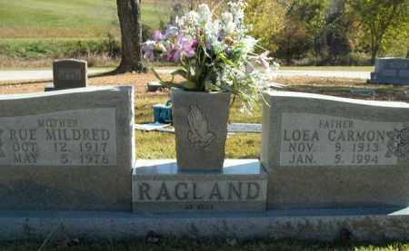RAGLAND, RUE MILDRED - Boone County, Arkansas | RUE MILDRED RAGLAND - Arkansas Gravestone Photos