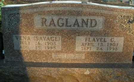 SAVAGE RAGLAND, VENA - Boone County, Arkansas | VENA SAVAGE RAGLAND - Arkansas Gravestone Photos