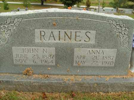 RAINES, JOHN N. - Boone County, Arkansas | JOHN N. RAINES - Arkansas Gravestone Photos