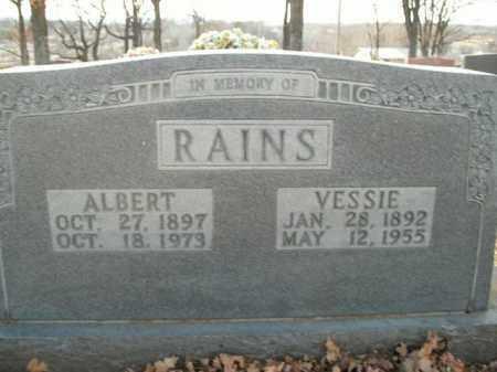 RAINS, ALBERT - Boone County, Arkansas   ALBERT RAINS - Arkansas Gravestone Photos