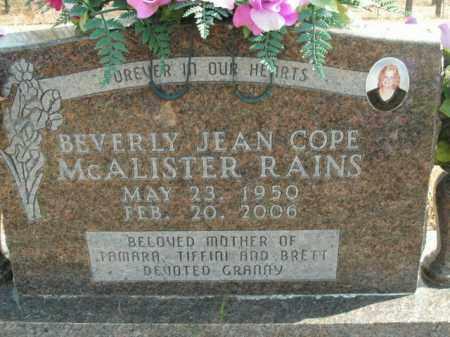 RAINS, BEVERLY JEAN - Boone County, Arkansas | BEVERLY JEAN RAINS - Arkansas Gravestone Photos