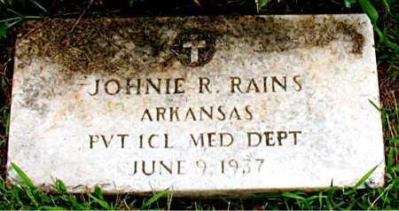 RAINS  (VETERAN), JOHNIE R - Boone County, Arkansas | JOHNIE R RAINS  (VETERAN) - Arkansas Gravestone Photos