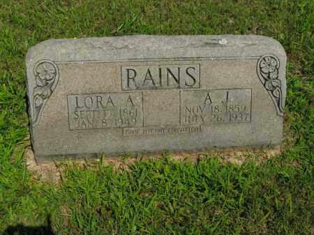 RAINS, A. J. - Boone County, Arkansas | A. J. RAINS - Arkansas Gravestone Photos