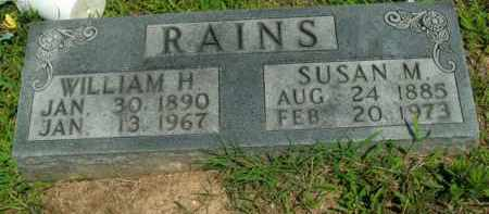 RAINS, WILLIAM H. - Boone County, Arkansas | WILLIAM H. RAINS - Arkansas Gravestone Photos