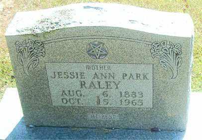 PARK RALEY, JESSIE ANN - Boone County, Arkansas | JESSIE ANN PARK RALEY - Arkansas Gravestone Photos