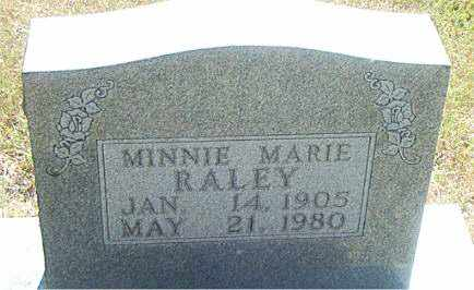 RALEY, MINNIE MARIE - Boone County, Arkansas | MINNIE MARIE RALEY - Arkansas Gravestone Photos