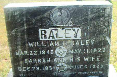 RALEY, WILLIAM  H. - Boone County, Arkansas | WILLIAM  H. RALEY - Arkansas Gravestone Photos