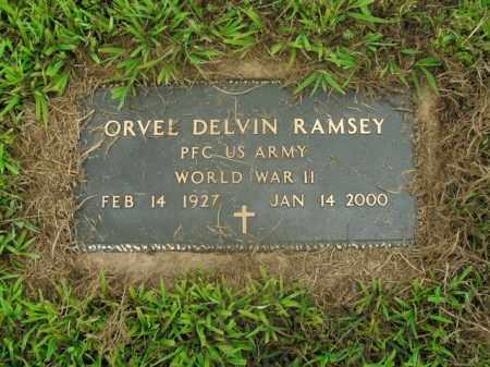 RAMSEY  (VETERAN WWII), ORVEL DELVIN - Boone County, Arkansas | ORVEL DELVIN RAMSEY  (VETERAN WWII) - Arkansas Gravestone Photos
