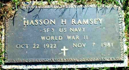 RAMSEY  (VETERAN WWII), HASSON  H. - Boone County, Arkansas | HASSON  H. RAMSEY  (VETERAN WWII) - Arkansas Gravestone Photos