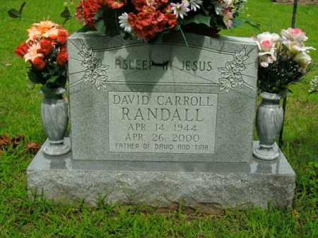 RANDALL, DAVID CARROLL - Boone County, Arkansas | DAVID CARROLL RANDALL - Arkansas Gravestone Photos