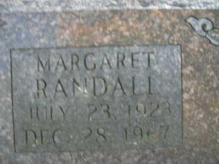 RANDALL, MARGARET - Boone County, Arkansas | MARGARET RANDALL - Arkansas Gravestone Photos