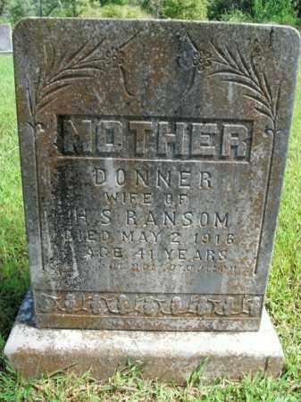 RANSOM, DONNER - Boone County, Arkansas | DONNER RANSOM - Arkansas Gravestone Photos