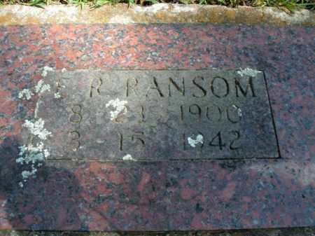 RANSOM, E.R. - Boone County, Arkansas | E.R. RANSOM - Arkansas Gravestone Photos