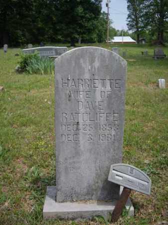 RATCLIFFE, HARRIETTE - Boone County, Arkansas | HARRIETTE RATCLIFFE - Arkansas Gravestone Photos