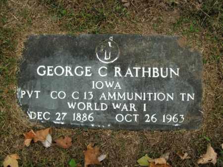 RATHBUN  (VETERAN WWI), GEORGE C - Boone County, Arkansas   GEORGE C RATHBUN  (VETERAN WWI) - Arkansas Gravestone Photos
