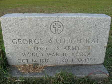 RAY  (VETERAN 2 WARS), GEORGE ARLEIGH - Boone County, Arkansas | GEORGE ARLEIGH RAY  (VETERAN 2 WARS) - Arkansas Gravestone Photos