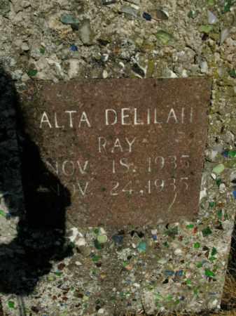 RAY, ALTA DELILAH - Boone County, Arkansas | ALTA DELILAH RAY - Arkansas Gravestone Photos